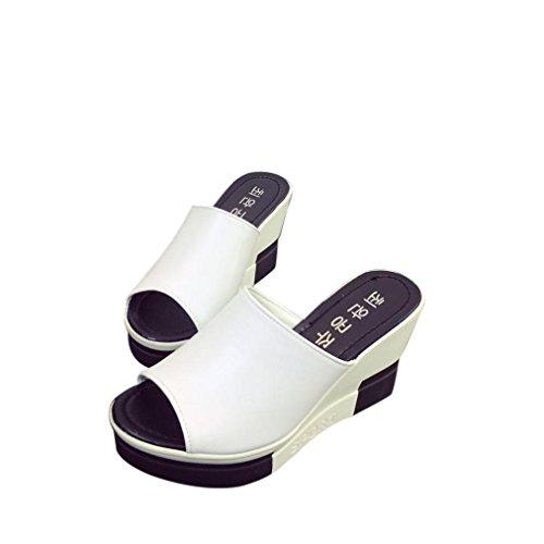 Peep Para Chanclas de Chancletas Zapatos Sandalias Toe Zapatos Dama Sandalias Tacones promocionales Romanos Mujer Calzado Verano Ofertas de xvn0qSw4f