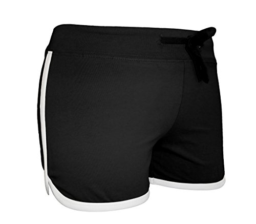 womens-cotton-adjustable-drawstring-active-mini-shorts-black-m