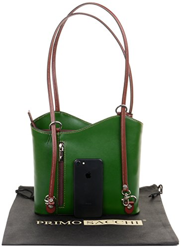 à Moyen la grandes italien en rangement sac Vert bandoulière fabriqué nbsp;Versions et un de sac ou cuir dos marque nbsp;Comprend moyennes à à sac de à main Sac main et Marron protecteur RqPZvfx