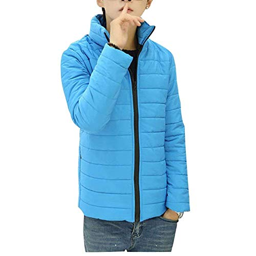Jacket Quilted Up Jacket Packable Down Light Jacket Warm Men's Jacket Jacket Blau Apparel Parka Long Ultra Winter Collar Down Stand Sleeve Hooded OwOrYdqa