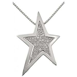 Thierry Mugler T42136Z - Collar de mujer de plata con circonitas, 40 cm