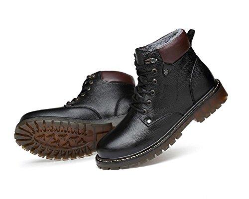 bottes de coton haute imitation cuir khaki male court en chaussures grande taille Hiver chaussures rembourr¨¦ outillage 44 dBqwXff