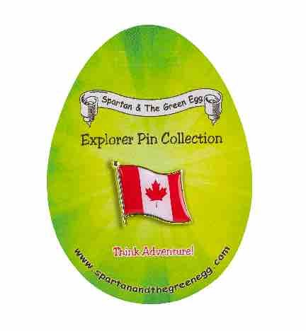 Spartan and the Green Egg Explorer Flag Pin: Canada Flag (Hats From Around The World)