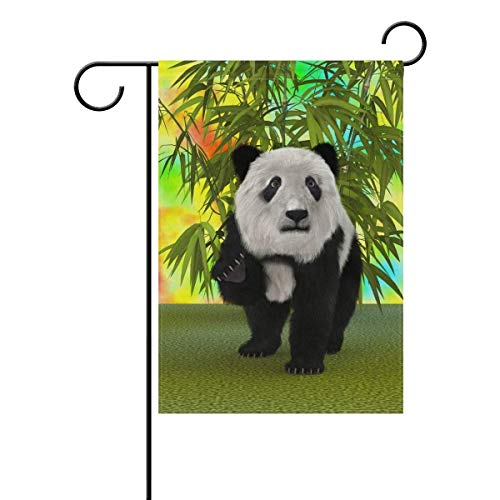 Panda House Garden Flag 12x18 inch Double Sided Polyester Yard Flag for Party Home Decor Outdoors ()