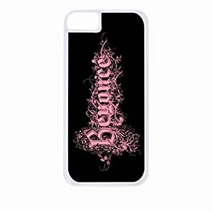 Beyonce-Fancy Pink Logo- Hard White Plastic Snap - On Case-Apple Iphone 5 - 5s - Great Quality!