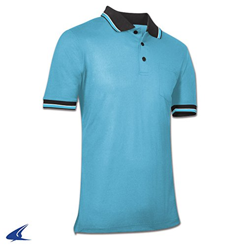 CHAMPRO BSR1 UMPIRE POLO BASEBALL SHIRT BSR1 Light Blue L (Baseball Umpire Shirt)