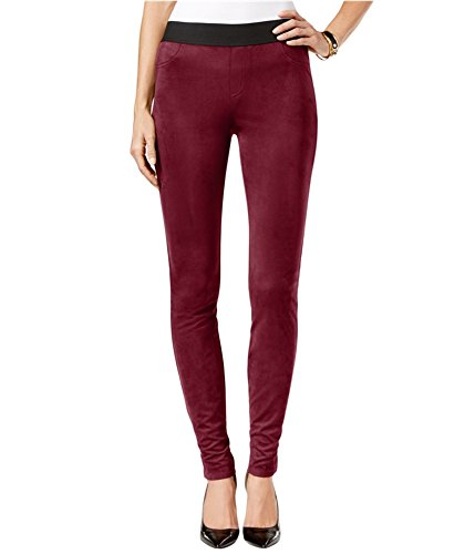 INC International Concepts Women's Faux Suede Pull On Legging Pants (14, (Suede Pants Slacks)