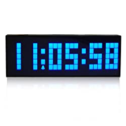 I-MART Large Big Number Digital Led Clock/Wall Alarm/Digital Calendar/Count Down Timer (Blue)