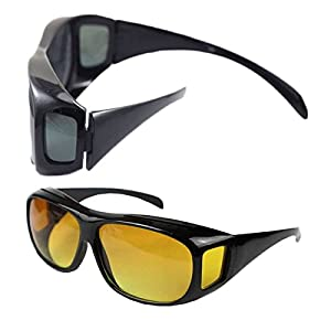 MSmask HD Driving Outdoor Sports Eyewear Night Vision Polarized Sunglasses Lenses UV Protection Goggles Over Wrap Around