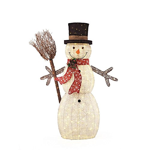 60IN 270L LED PVC SNOWMAN AND BROOM by Home Accents Holiday