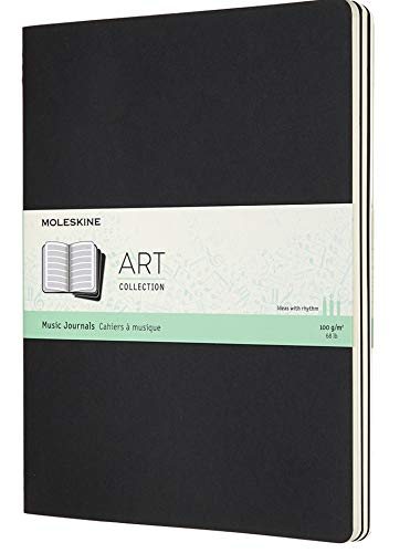 Moleskine Art Cahier Music Notebook, Soft Cover, XL (7.5