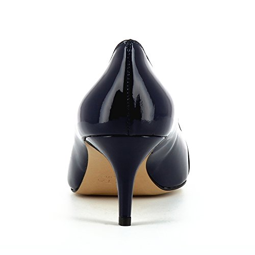 Evita Shoes Giulia Damen Pumps Lack Dunkelblau