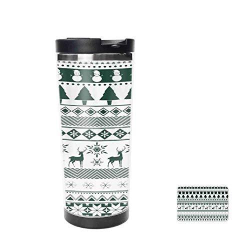 Xmas Christmas Santa Tree Claus Beer Snowman Snowflake Jingle Bell Sock Craft Embellishment Travel Mug for Coffee & Tea,Drinking Cup, Coffee Mug,Thermos Cup 14oz