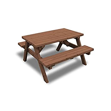 Pleasant Rutland County Garden Furniture Oakham Picnic Table Pub Style Bench 5Ft Heavy Duty Hand Made Rustic Brown Pressure Treated Unemploymentrelief Wooden Chair Designs For Living Room Unemploymentrelieforg