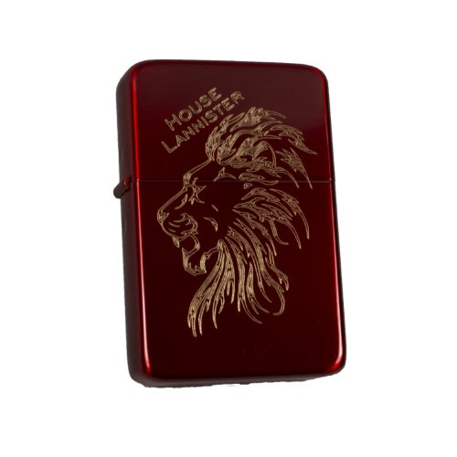 Lighter Crimson House Lannister Lion Windproof (Engraved by Hip Flask Plus)