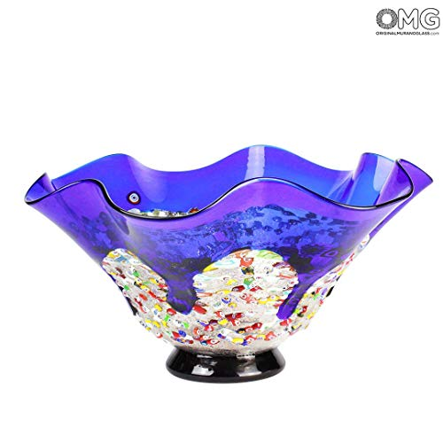 Original Murano Glass OMG Drop Bowl Murrine - Blue