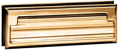 Wide Brass Finish - Salsbury Industries 4035B Mail Slot, Standard/Letter Size, Brass Finish