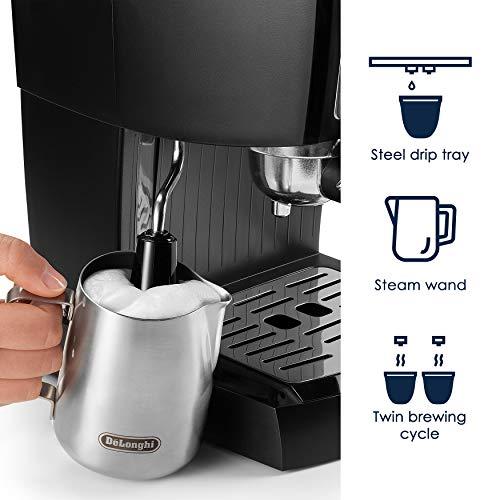 DeLonghi EC155M Manual Espresso Machine, Cappuccino Maker by DeLonghi (Image #2)
