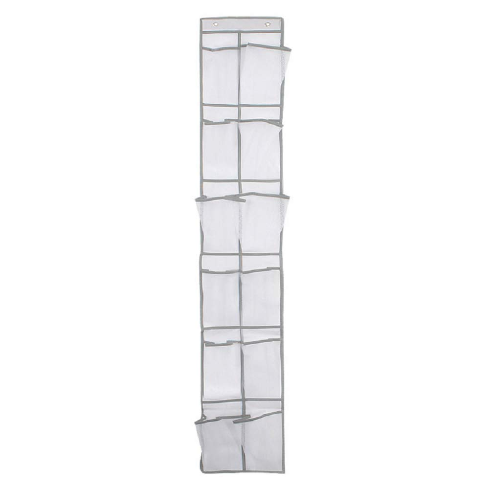 INTRO Heavy Duty Over Door Organizer For Narrow Door With 12 Mesh Pockets,Coffee [Energy Class A]