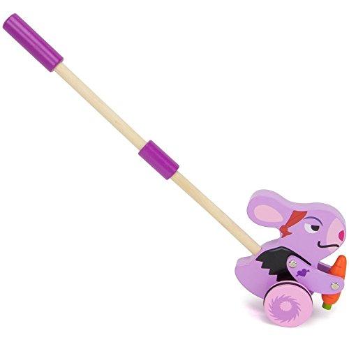 (Radical Racers Bunny Wooden Push Walking Toy - Kid Powered!)