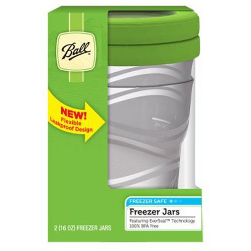 Ball Jar 16-Ounce Plastic Freezer Jar