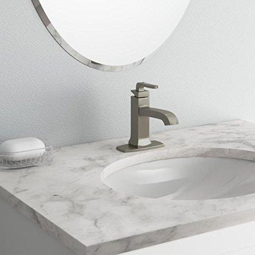 KOHLER Rubicon Single Hole Single-Handle Bathroom Faucet in Vibrant Brushed Nickel