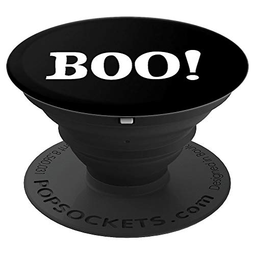 Boo Halloween Word Scary Trick Or Treat PopSockets Grip and Stand for Phones and Tablets ()