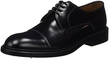 Lottusse L6723, Zapatos de Cordones Brogue para Hombre, Negro (Jocker Pelar Negro), 40 EU