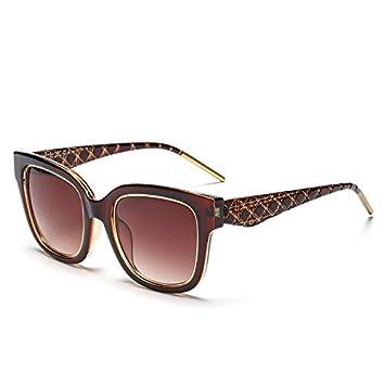GCR Sonnenbrille Schatten Polarisierende Brille Kunstleder Bein Hipster Sonnenbrille Quadratische Gitter Unisex , C