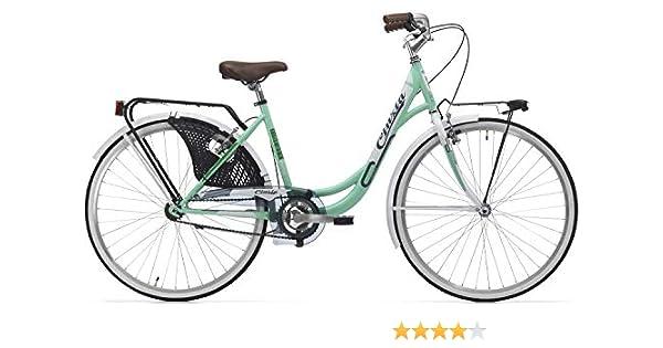 Cicli Cinzia Bicicleta Liberty Mujer, Marco de Acero, 26 Pulgadas ...