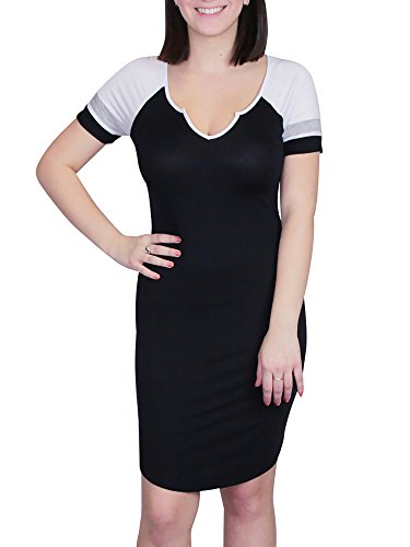 Jersey Double V-Neck Dress - 4