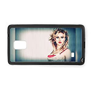 Durable Soft High Quality Phone Case For Child Printing Scarlett Johansson For Galaxy Note 4 Choose Design 4