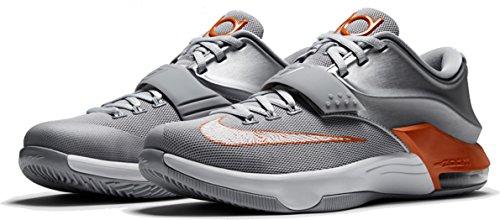 Zapatillas De Baloncesto Kd Vii Rayo Nike Hombres Plata Metálica / Naranja Gris-lobo Urbano Mejor venta al por mayor barata en línea AYVO36RP8A