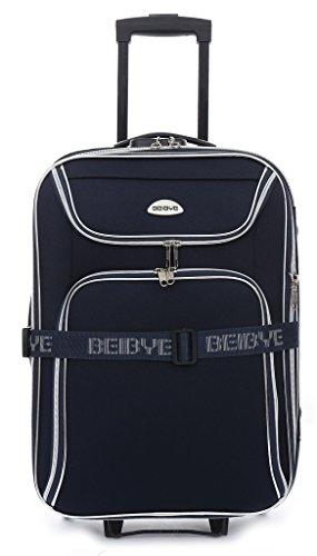 Trolley-valigetta - 56 cm, estendibile - colore blu scuro
