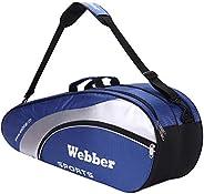 Tennis Racquet Cover Bag 3-6 Racquets Badminton Paddle Carry Case Waterproof Dustproof Outdoor Sports Storage