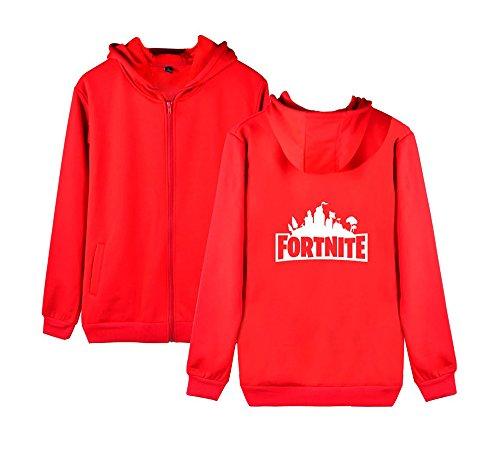 Per Felpa Fortnite Casual Donne Uomini Zip Cappotto Allentato Aivosen Pile E Con Outwear Invernale Sweatshirts Red2 Unisex EFTw5q7