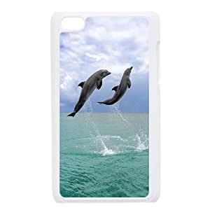 High Quality Phone Case FOR IPod Touch 4th -Dolphins And Ocean-LiuWeiTing Store Case 8