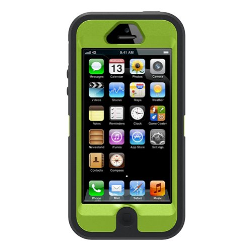 OtterBox Defender Series Case and Holster for iPhone 5 (Discontinued by Manufacturer) - Realtree Camo - Xtra Green