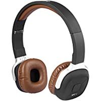 Maxmore(Meeaja) Ultralight Sport Sweat-proof Wireless Bluetooth V4.1 On Ear Foldable Headphone with Mic, Pedometer Function and NFC Function, Brown