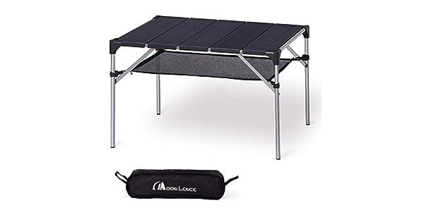 Amazon.com: Mesa de camping portátil y ligera de aluminio ...