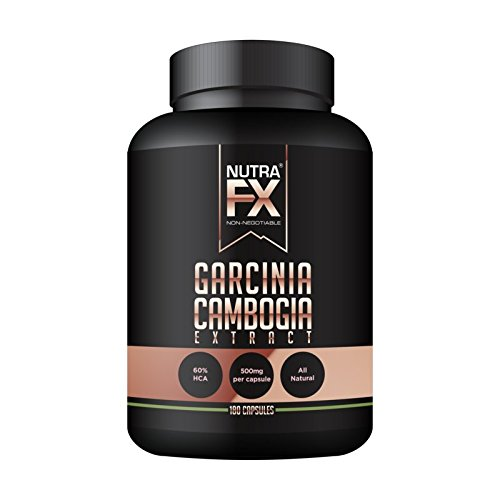 NUTRAFX Pure Garcinia Cambogia Extract 60% HCA Appetite Suppressant Natural Weight Loss Pills 180 Vegetable Capsules