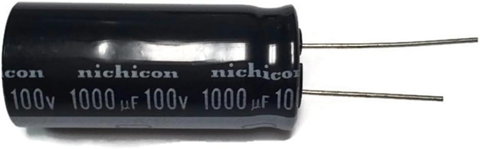 100 pcs UVX1V101MPA NICHICON Radial Electrolytic Capacitor 100uF 35V 85*c