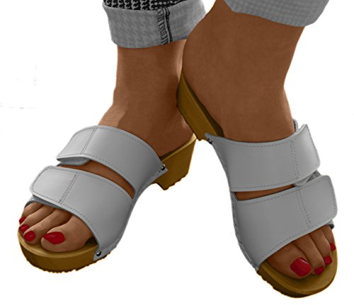 Mules Blanc Line Femme Comfort pour HU6qI15