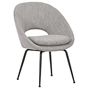 amazon com rivet modern upholstered orb office chair 24 4 w light