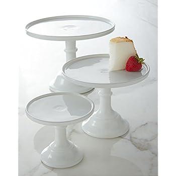 Milk White 9\  Glass Cake Stand - Made in the USA By Mosser Glass  sc 1 st  Amazon.com & Amazon.com | Mosser Glass 10\