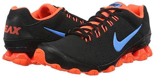Nike Reax 9 TR Zapatillas, Hombre, Negro/Naranja, 45