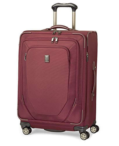 Ballistic Nylon Luggage Sets - Travelpro Crew 10 25 Inch Expandable Spinner Suiter, Merlot, One Size