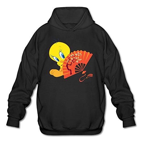 (KYNONZ Tweety Bird Cute Men's Graphic Hoodies Coat Black)