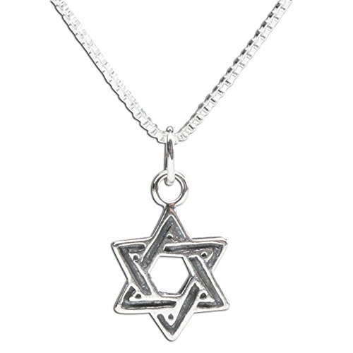 - Sterling Silver Star of David Charm Necklace for Bat Mitzvah