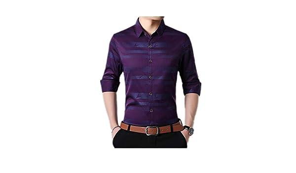 2019 Camisa de Hombre Nueva para Hombre Camisa de Manga Larga con ...